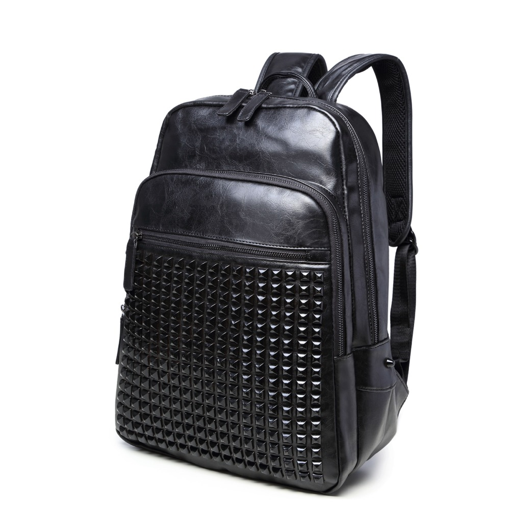 (B8323)2016 Vintage quality PU leather men women backpack, two kinds of color , suitable for mochila or shopping bag