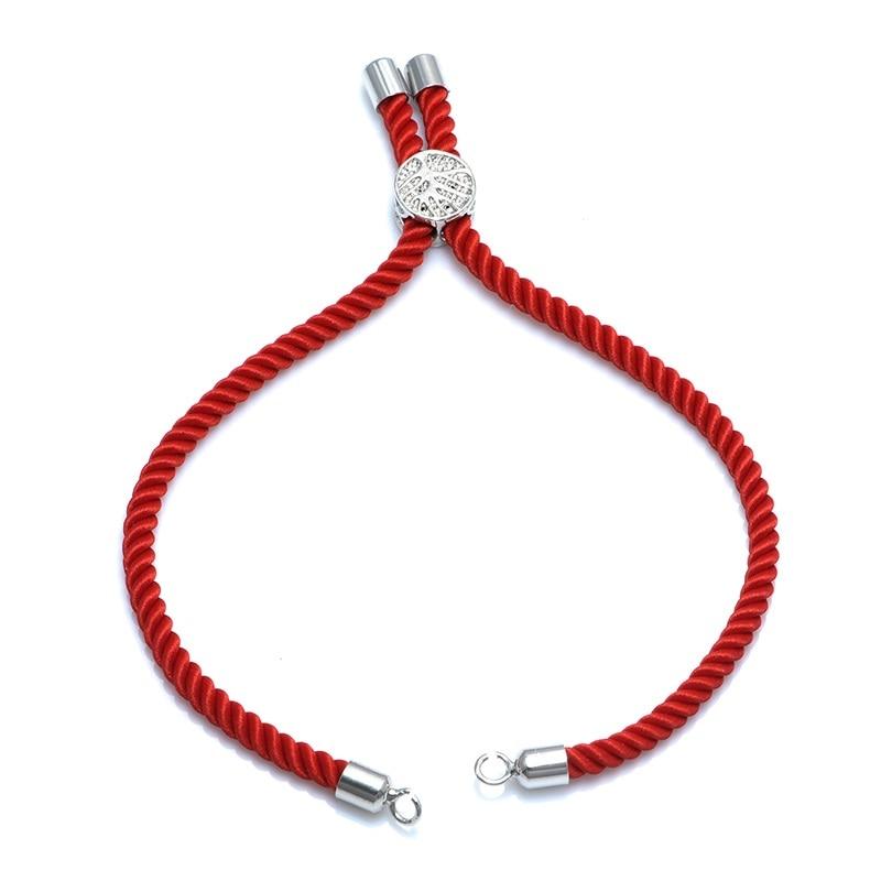 12 цветов Новые черные красные веревки плетеные веревки регулируемая цепь для шармы-соединители ювелирные изделия для создания браслетов ювелирных изделий - Цвет: red