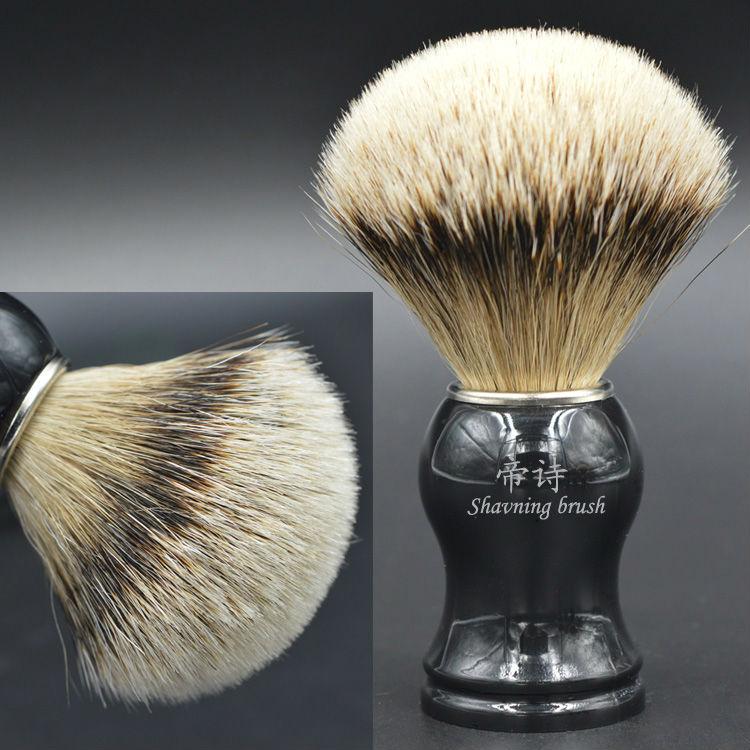 Silvertipアナグマ毛シェービングブラシ手作り剃りブラシメンズグルーミングキット  グループ上の 美容 & 健康 からの シェービングブラシ の中 1
