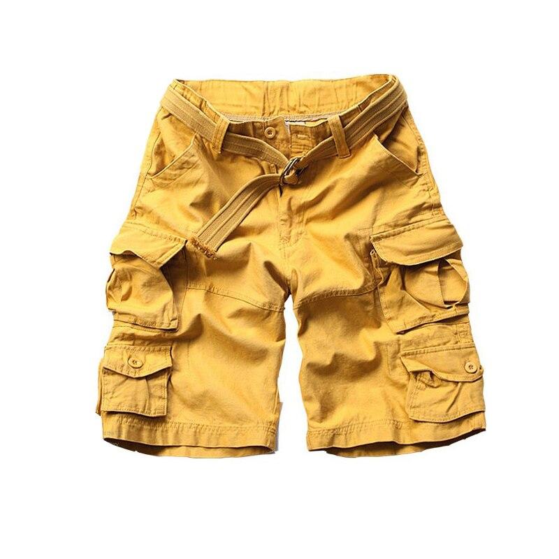 New Fashion Vintage Men Shorts Military Style Army Camouflage Cargo Shorts Plus Belt Free Shipping