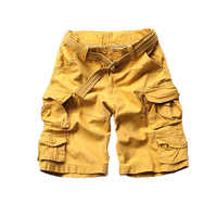 New fashion vintage men shorts military style army camouflage cargo shorts plus belt free shipping