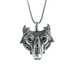 Vikings hange norse wolf cool animal pendant head style necklace original