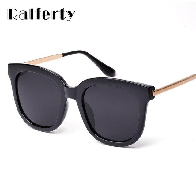 9b928a80f76c Ralferty 2017 корейский винтаж квадратные очки солнцезащитные женские  мужские топ женский солнцезащитные очки женские зеркало солнечные