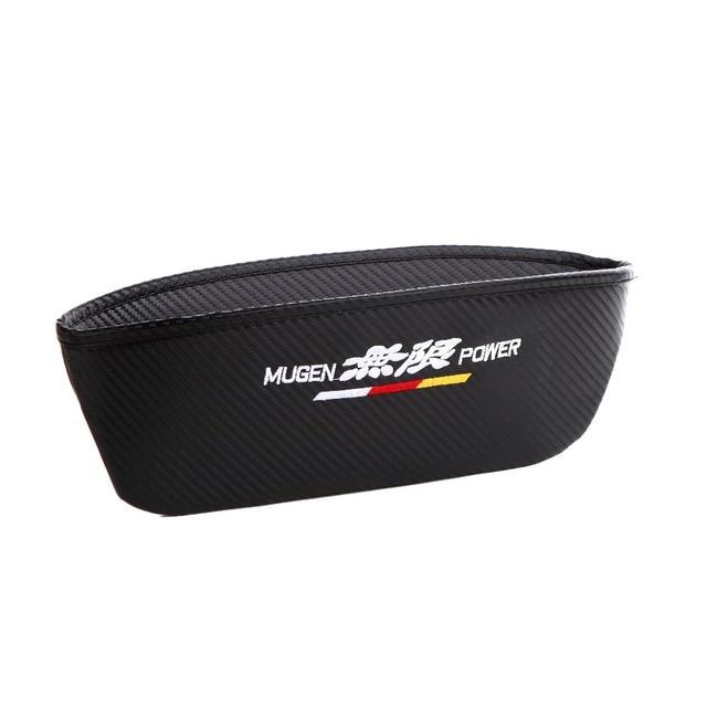 Interior Accessories Seat Crevice Storage Box Ample Space for Mugen Logo for Honda Accord Civic CRV Crosstour H-RV Nsx Pilot CRZ