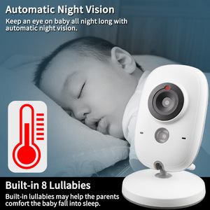 Image 2 - TakTark 3.2 inch Wireless Video Color Baby Monitor portable Baby Nanny Security Camera IR LED Night Vision intercom