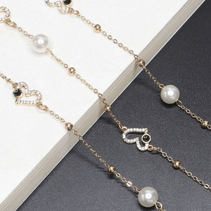 Image 1 - High Quality 70CM Luxurious Heart Shape Sunglasses Lanyard Strap Necklace Eyeglass Handmake Chain Cord For Dinner Party
