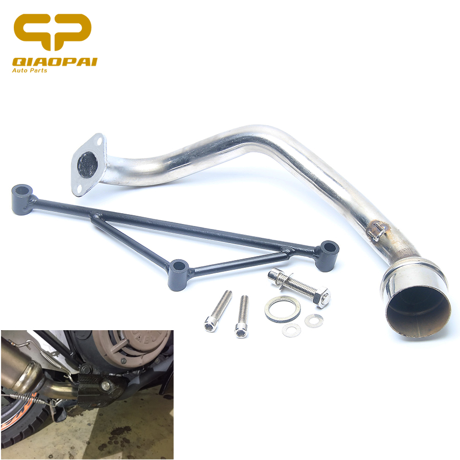 GY6 Exhaust Pipe Link Set Scooter Exhaust Pipe Motorcycle Muffler Bracket Header With Mounting For Yamaha 100CC GY6 125CC 150CC