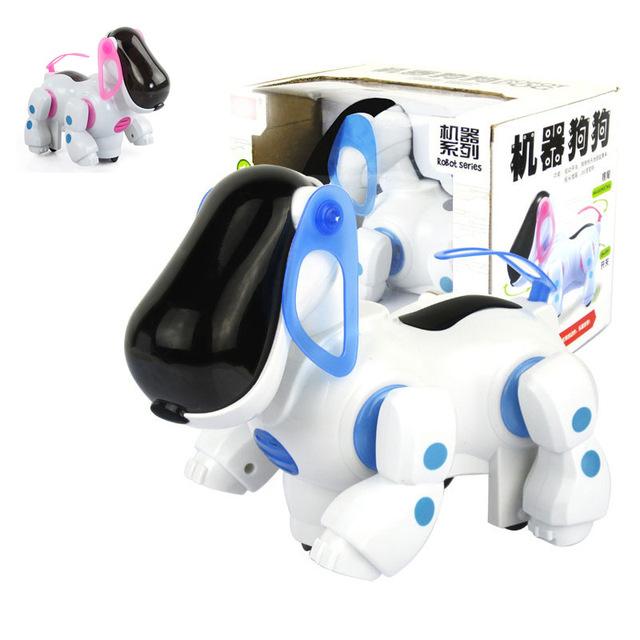 Novo Multi-função sounding piscando Cão Robô Inteligente Robô de estimação Eletrônico Andando Filhote de Cachorro Toy bebê crianças presente de natal