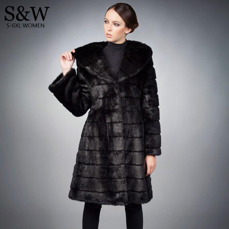 Womens Black Fur Coat - JacketIn