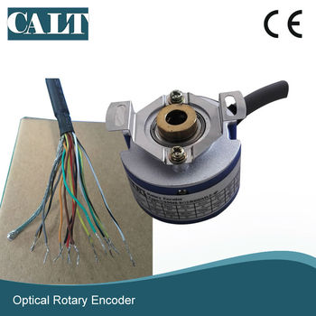 CALT GSM48 8mm hollow shaft or 9mm taper shaft 2500 pulse rotary encoder for 4 pairs poles servo motor цена 2017