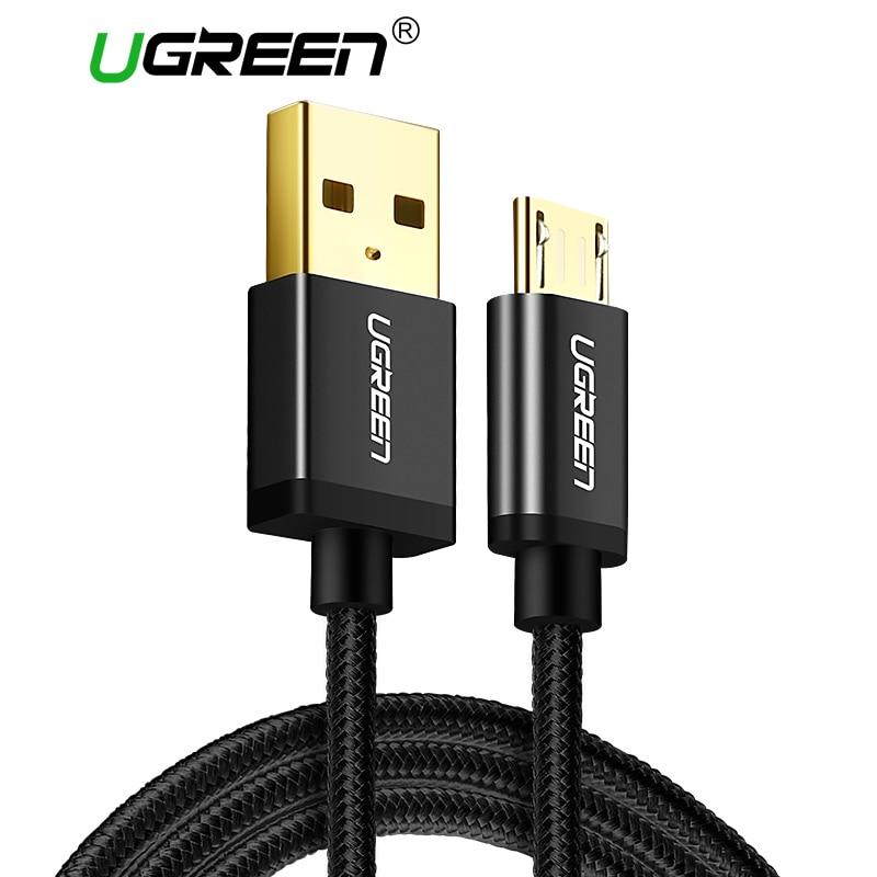 Ugreen Micro USB кабель Android плетеный нейлоновый Зарядное устройство USB Micro USB быстрая зарядка кабель для Samsung Xiaomi HTC Планшеты USB шнур ...