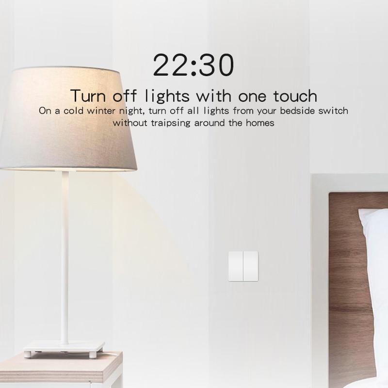Xiaomi Aqara Smart Home ZiGBee Wireless Key Live & Neutral wire Wall ...