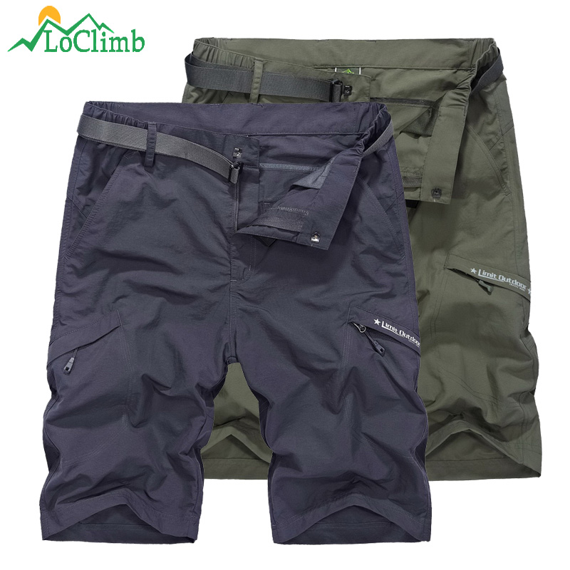 LoClimb Outdoor Hiking Shorts For Men Camping/Climbing/Trekking Khaki Quick Dry Shorts Men's Sports Shorts Fishing AM385