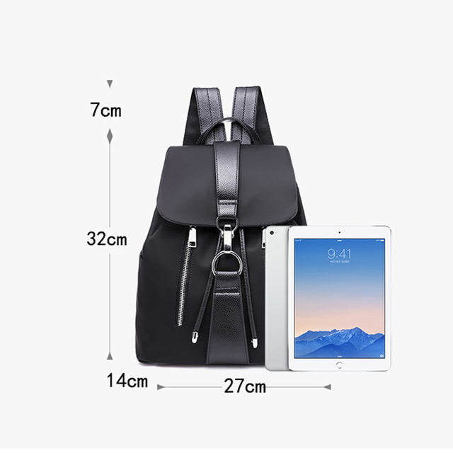 Buy Online Chic Fashion Waterproof Oxford Backpack For Girls