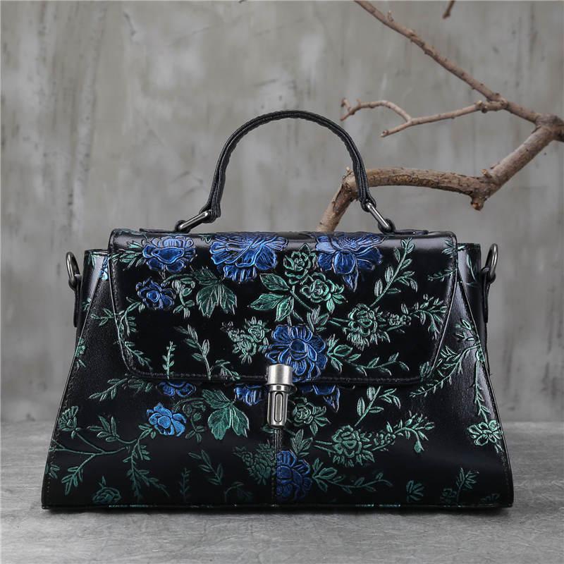 Women Handbag Female Genuine Leather Bags Handbags Ladies Fashion Designer Portable Shoulder Bag Office Ladies Satchels Bag Tote