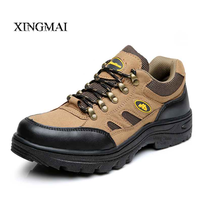 2016 Safety Shoes Steel Toe Cap Covering Male Genuine leather slip-resistant anti-odor wear-resistant breathable Work Shoes