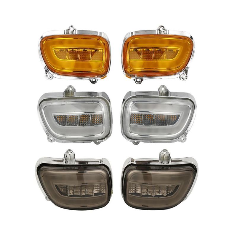 Front LED Turn Signals For Honda Goldwing GL1800 GL 18002001-2017 F6B 13-17 2013 2014 2015 2016 headlight headlamp assembly for honda goldwing f6b gl1800 2012 2013 2014 2015