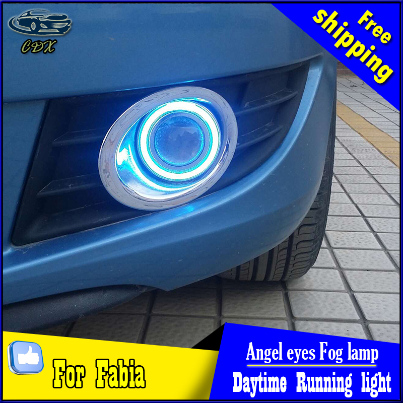 CDX car styling angel eyes fog light for Skoda Fabia 2012-2014 year LED fog lamp LED Angel eyes LED fog lamp Accessories купить