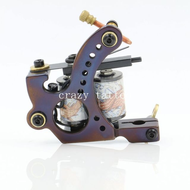Coil Tattoo Machine 10 Wrap Coils Tatoo Gun Hand-assembled Cast Iron Permanent Tattoo Machine For Liner And Shader
