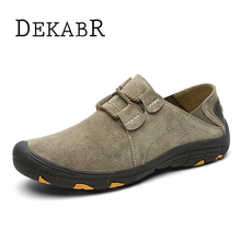 DEKABR Brand New Causal Suede Leather Men Shoes Brand Fashion Men Flats Breathable Stylish Footwear Spring Autumn Shoes Men