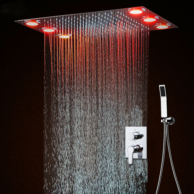 hot and cold ceiling shower head set electric led faucets. Black Bedroom Furniture Sets. Home Design Ideas