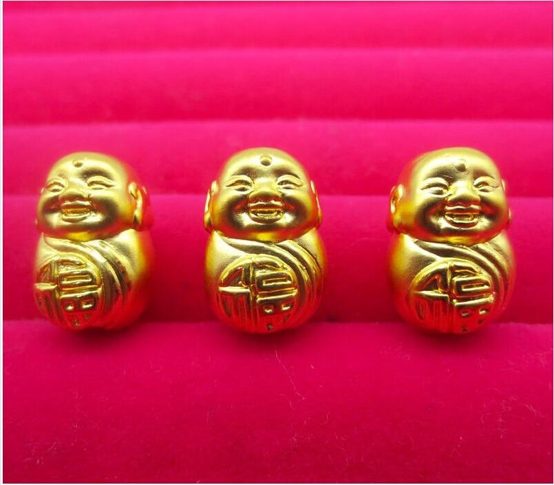 24k Yellow Gold Pendant/ 3D Bless Smile Buddha Pendant For one коркунов ассорти конфеты темный и молочный шоколад 110 г