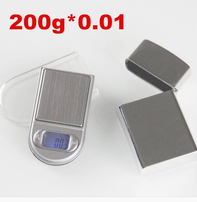 200g x 0.01g Mini Ringan desain Digital Timbangan Untuk Emas Dan Berlian Skala Perhiasan Keseimbangan 0.01 Gram Elektronik timbangan