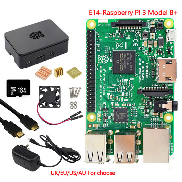 New Original Raspberry Pi 3 Modèle B + Raspberry Pi Framboise Pi3 B Plus Pi 3 Pi 3B Avec WiFi & Bluetooth USB Port