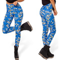 3166 Fashion Women blue super hero batman cartoon prints elastic bodybuilding sexy Girl Leggings Pants
