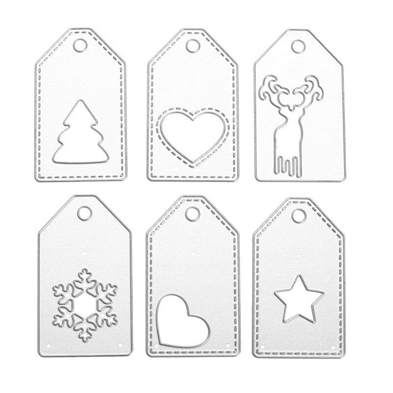 Moderno 6 Unids Navidad Etiquetas de Metal Troqueles De Corte Muere ...