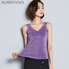 AOSSVIAO Fashion Women Ladies Tank Tops Sleeveless Lace Vest Crochet Pink Purple Black Bralette Camis Summer Clothes
