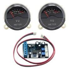 2pc P-40SA VU Meter Head Power Amplifier DB Table AudioLevel Sound Pressure w/backlight & 1pc TA7318P Driver Board