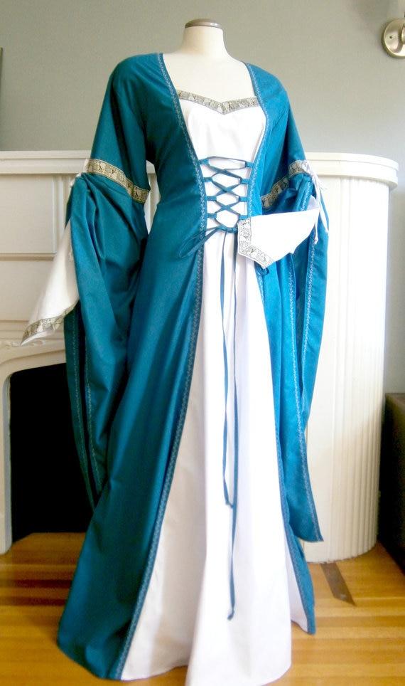 Medieval DressRenaissance GownLARP and Fantasy Theater Dress Late Victorian Dress