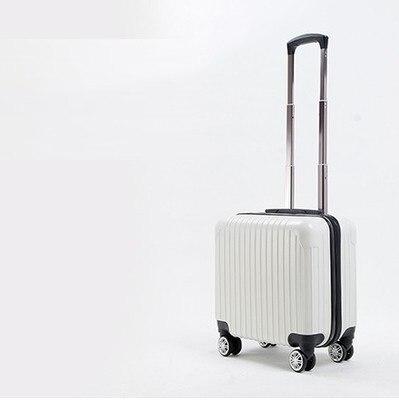 16 PULGADAS 16 # Regalo personalizado 16 nueva gama alta de business travel trolley chasis bordo maleta sólido # EC ENVÍO GRATIS