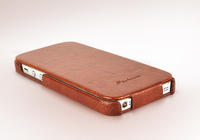 High Quality FASHION Logo Business Style Vertical Flip Up And Down PU Leather Case For IPhone