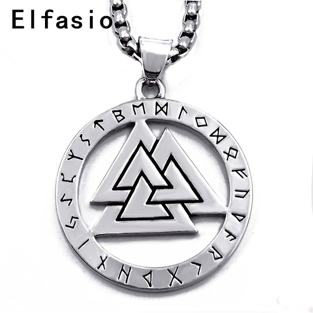 Mens boys silver pewter pendant valknut odin s symbol of norse mens boys silver pewter pendant valknut odin s symbol of norse viking warriors amulet stainless aloadofball Image collections