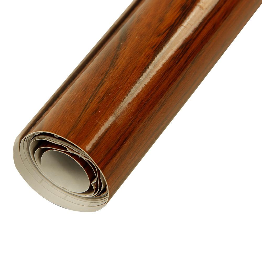 HOHOFILM 3Mil bois grain vinyle auto-adhésif De Voiture Interne Autocollant décoration autocollant Meubles Table Autocollant De Protection 1.24x3 m