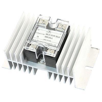 4-20mA Input AC 28-280V 25A Output Single Phase Solid State Relay w Heatsink high quality ac ac 80 250v 24 380v 60a 4 screw terminal 1 phase solid state relay w heatsink