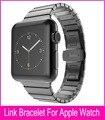 Link pulseira de qualidade superior para hoco apple watch band 42mm preto prata ouro aço inoxidável pulseiras para cinta iwatch