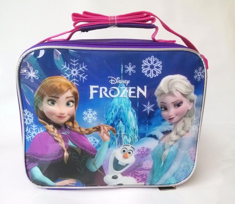 Disney Frozen Cartoon Children Elsa Anna Student Thermos Bag Box Shoulder Messenger Picnic Bag Pack Lunch Bento Storage Box Kid