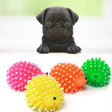 Rotocast Pet Dog Toys Cute Hedgehog Shape Dog Toy Ball Pet Dog Puppy Squeaky Chew Squeaker Funny Animal Toys For Small Dogs(China)