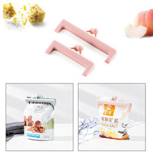2PCS Snacks Plastic Bags Sealed Folder Milk Food Bags Small Clip Food Sealed Snacks Folder New Arrival Random Color(China)