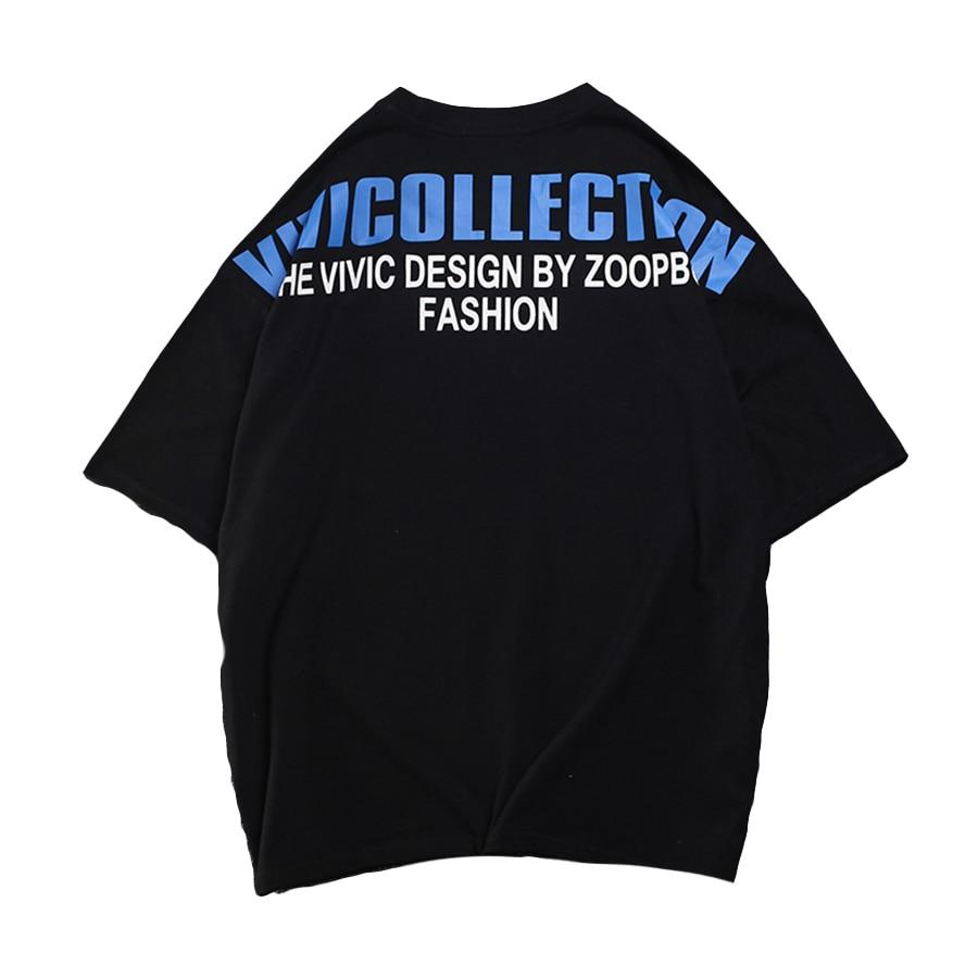 T-Shirt à manches courtes hommes Streetwear Hip Hop Rock t-Shirt Marque Homme Swag Roupas Punk Rap Vintage hommes vêtements Dx502