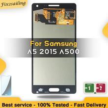 شاشات LCD لسامسونج غالاكسي A5 2015 A500 A500F A500FU A500H A500M LCD مجموعة المحولات الرقمية لشاشة تعمل بلمس استبدال