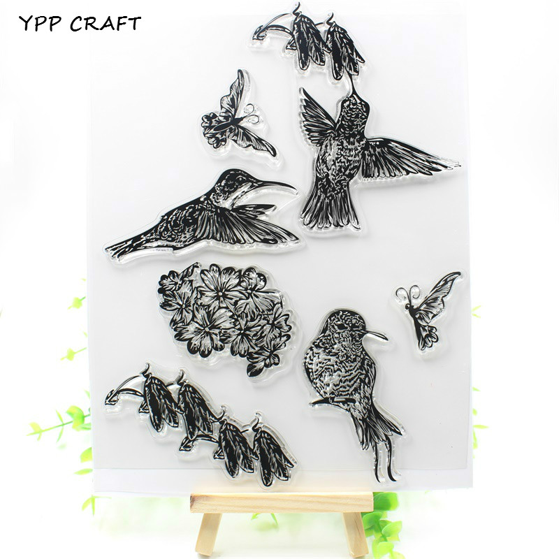 YPP CRAFT Birds Transparent Clear Silicone Stamp/Seal for DIY scrapbooking/photo album Decorative clear stamp about lovely baby design transparent clear silicone stamp seal for diy scrapbooking photo album clear stamp paper craft cl 052
