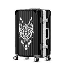"""Модный крутой чемодан на колесиках PC+ чемодан на колесиках из АБС-пластика дорожный посадочный алюминиевый чемодан на колесах 2"""" 24"""" 2"""" дюймов"""