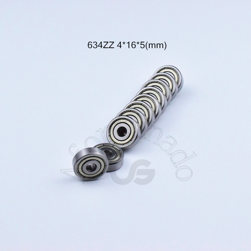 634zz 4*16*5(mm) 10pieces 634 Bearing Metal Sealed Free Shipping ABEC-5 Chrome Steel Bearings Hardware
