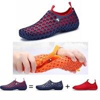 4c27cbb15bbdd4 Men Women Beach Shoes Spring Summer Aqua Sport Sneakers Comfortable  Breathable Outdoor Water Fishing Shoes Couple. Mężczyźni kobiety plaża buty  ...