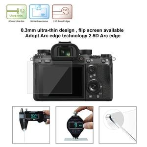 Image 3 - بولوز 1 قطعة 9H الزجاج المقسى LCD واقي للشاشة فيلم مناسبة لسوني ILCE 9 A9 A6000/A6500 RX100/A7M2/A7R/A7R2 كاميرا