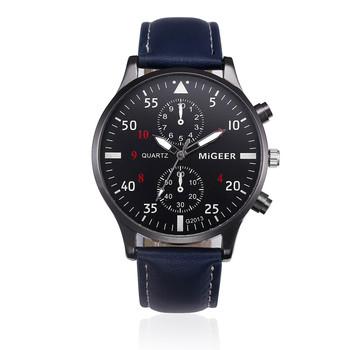 Military Business Watches Men Brand Luxury Sport Digital Relogio Masculino Retro Design Leather Band Alloy Quartz Wrist Watch